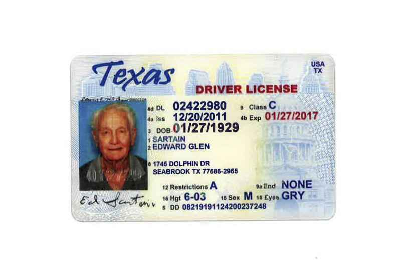 2 Edward Sartain S Driver S License